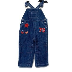 Cherokee Baby Denim Coveralls Overalls Embroidery